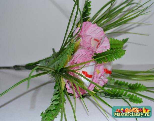 Топиарии из искусственных цветов 39