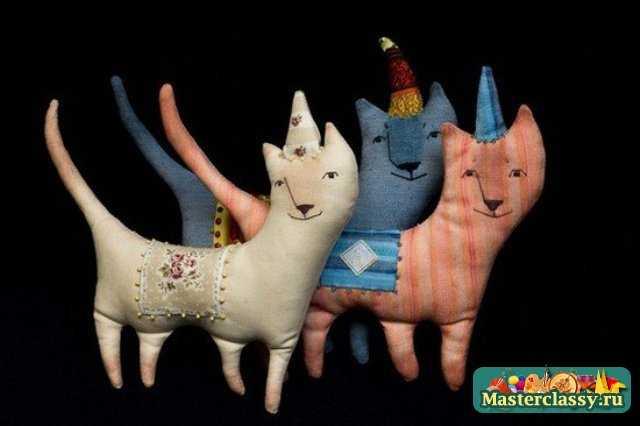 Текстильные котики своими руками с выкройками фото 116
