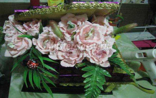 Цветы из гофрированной мастер класс с пошаговым 59