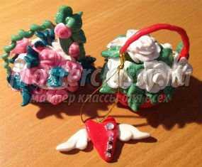 Корзина с цветами из конфет своими руками мастер класс фото 713