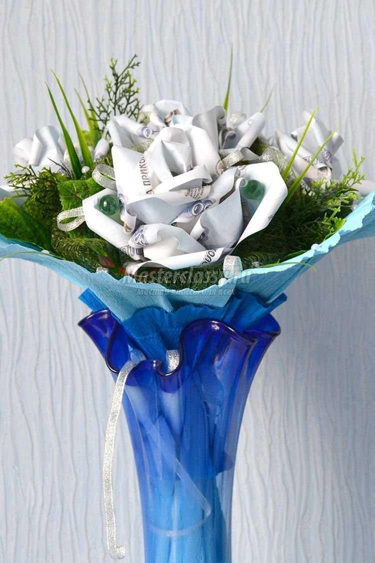 цветы из купюр своими руками пошаговая инструкция