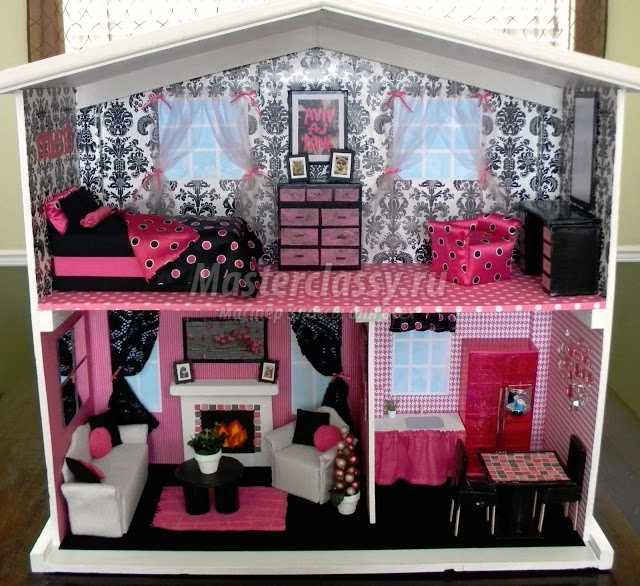 Как сделать домик для куклы Барби своими руками из разных 642