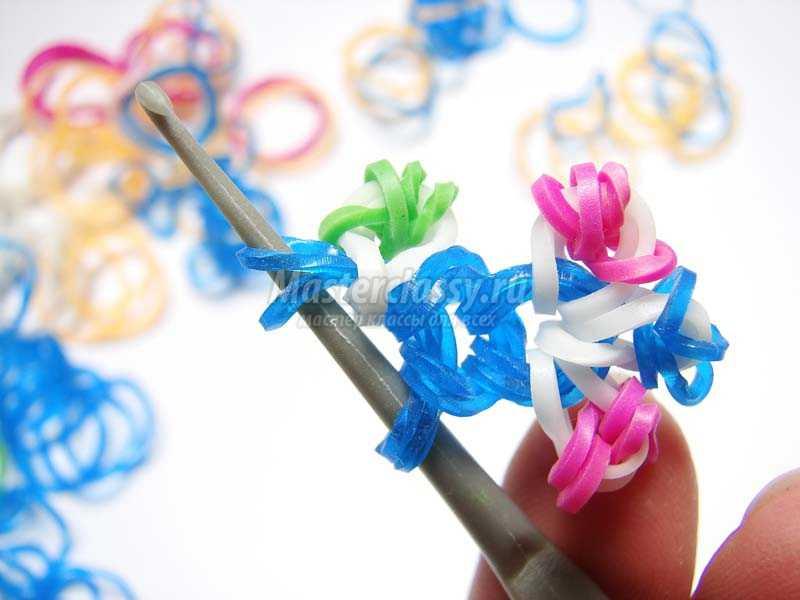 Вязание из резиночек на крючке
