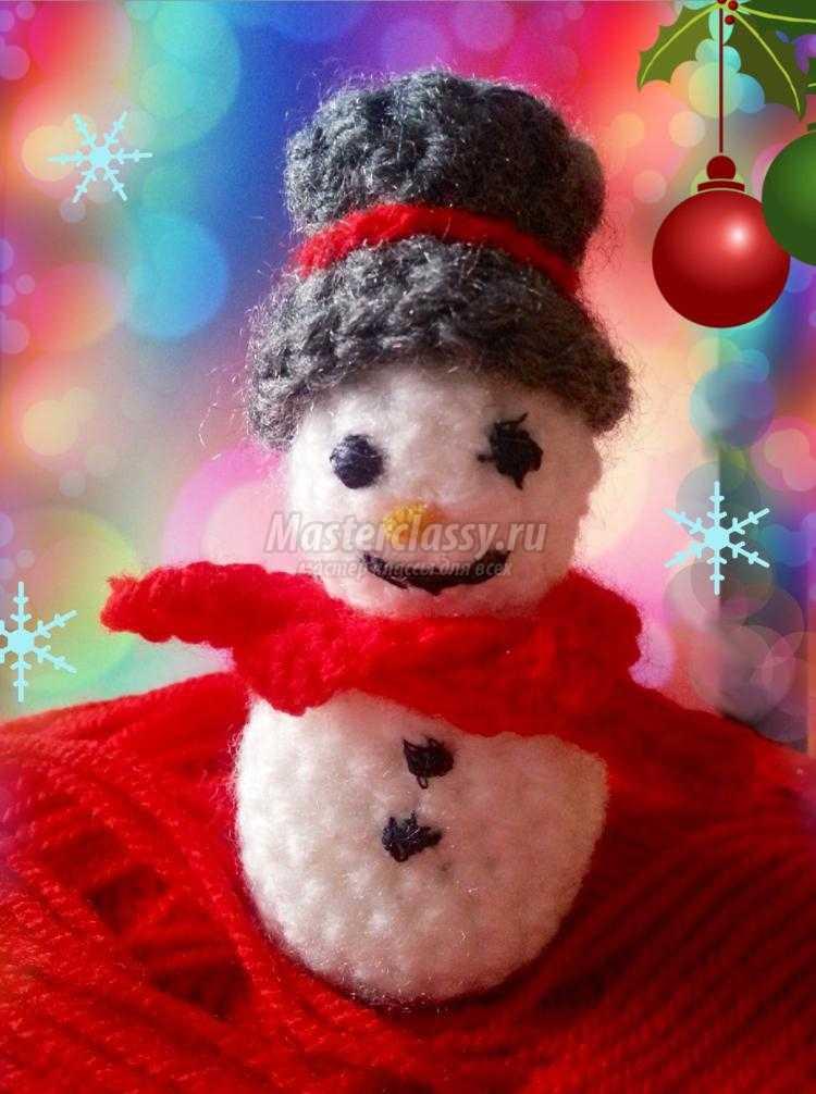 Детская поделка снеговик своими